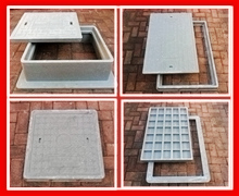 Square and rectangular manhole covers